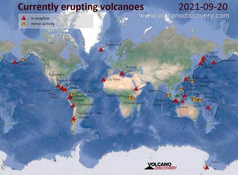 Zvýšená vulkanická aktivita
